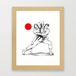 Judo tai otoshi Framed Art Print