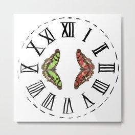 My Fluttery Clock Metal Print