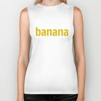 banana Biker Tanks featuring Banana by Illusorium