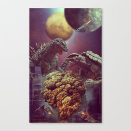 Godzilla VS Gamora  Canvas Print