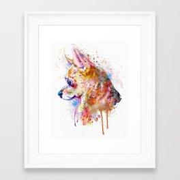 Watercolor Chihuahua Framed Art Print