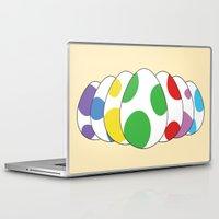 yoshi Laptop & iPad Skins featuring Yoshi eggs by Joe Love