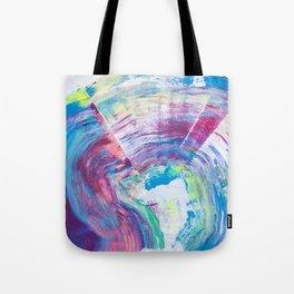 Neon Wave Tote Bag