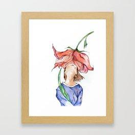 Olor a flor Framed Art Print