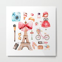 Welcome to Paris (2) Metal Print