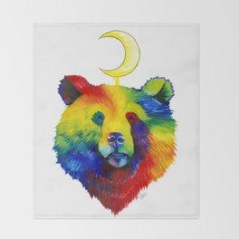 Rainbow Bear Spirit Throw Blanket