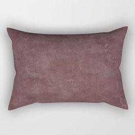 Deep Mahogany Oil Pastel Color Accent Rectangular Pillow