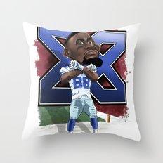 Dez Bryant Caricature Throw Pillow