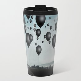In Limbo - black balloons Travel Mug