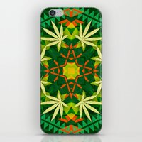 cannabis iPhone & iPod Skins featuring Tribal Cannabis by GypsYonic
