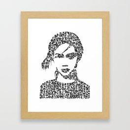 Kanji Calligraphy Art :woman's face #28 Framed Art Print