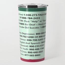 Suicide Prevention Hotlines Travel Mug