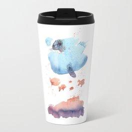 Cloud fish the Boogie Man - Fantasy Worlds - Watercolor Travel Mug