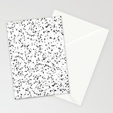 Speckles I: Double Black on White Stationery Cards