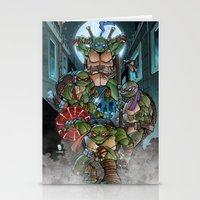 teenage mutant ninja turtles Stationery Cards featuring Ninja Time! by Mercenary Art Studio