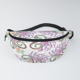 Modern Hand Painted Colorful Watercolor Flowers Fanny Pack