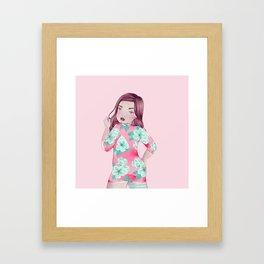 bayley dress Framed Art Print