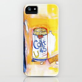 Colt 45 and 2 Zig Zags (An ode to Afroman) iPhone Case