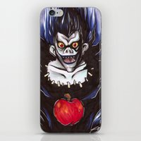 death note iPhone & iPod Skins featuring Death Note Ryuk by Synth Obscura Art