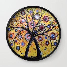 Abstract Art Landscape Original Painting ... Flowering Tree Wall Clock