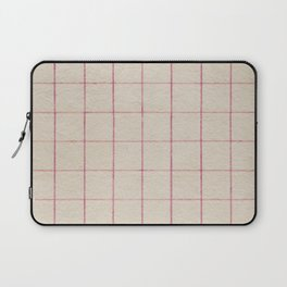 Geometric pink white vintage stripes pattern Laptop Sleeve