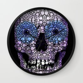 Skull Art - Day Of The Dead 2 Stone Rock'd Wall Clock