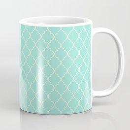 Quatrefoil Fresh Mint Coffee Mug