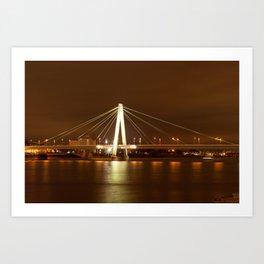 Cologne at Night Art Print