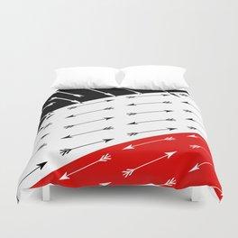 Red black , white pattern Boom 2 . Duvet Cover