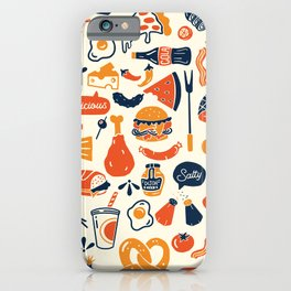 Cool, Fun & Colorful Retro Diner Pattern iPhone Case