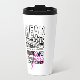 Read between the lines… Travel Mug