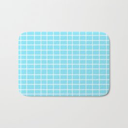 Squares of Turquoise Bath Mat