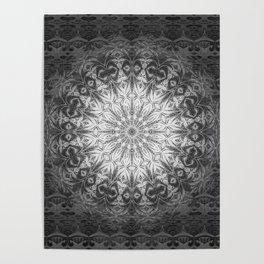 Gothic Lace Mandala Poster