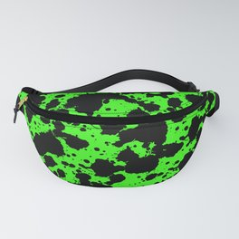 Bright Green and Black Leopard Style Paint Splash Funny Pattern Fanny Pack