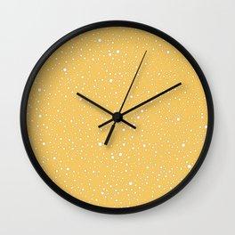 yellow spots pattern Wall Clock