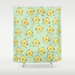 Lil Chicks Pattern Shower Curtain
