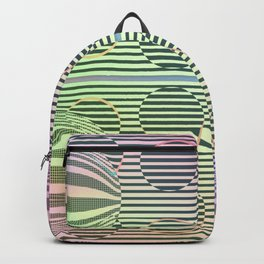 Deformed dots rainbow pattern Backpack