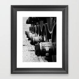 Rail Wheel Framed Art Print
