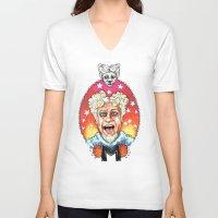 will ferrell V-neck T-shirts featuring Mugatu by Megan Mars