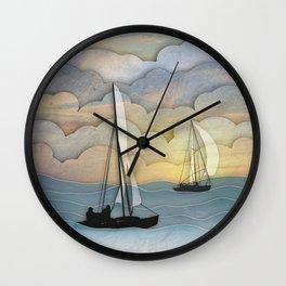 Sailing I Wall Clock