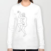 naked Long Sleeve T-shirts featuring naked by Michael Interrante