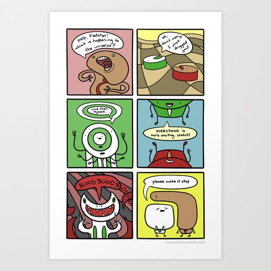 Antics #245 - do not do them Art Print