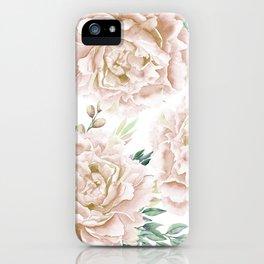 Pretty Blush Pink Roses Flower Garden iPhone Case