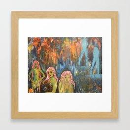 green girls Framed Art Print