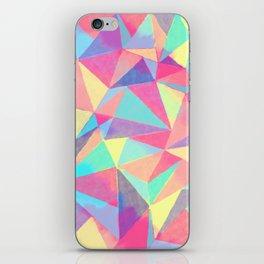 Colorful Vibrant Boho Geo Watercolor Triangles iPhone Skin