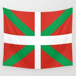 Flag of Euskal Herria-Basque,Pays basque,Vasconia,pais vasco,Bayonne,Dax,Navarre,Bilbao,Pelote,spain Wall Tapestry