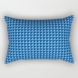 Blue Triangulate Rectangular Pillow