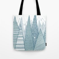 mountains Tote Bags featuring Mountains by Anita Ivancenko