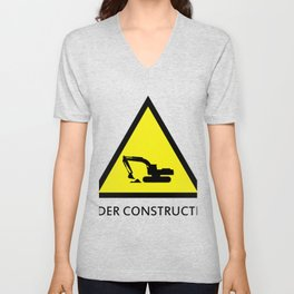under construction Unisex V-Neck