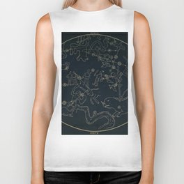 Winter Constellations Biker Tank